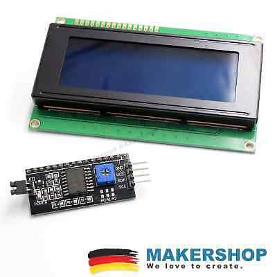 LCD 2004 HD44780 blau + I2C Interface Display Arduino Raspberry LCD2004
