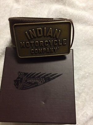 Brown Leather Textile Belt by Indian Motorcycle   part # 2863972