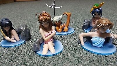 Rare- Love Hina- Hot Springs Mini Figure Set- Import