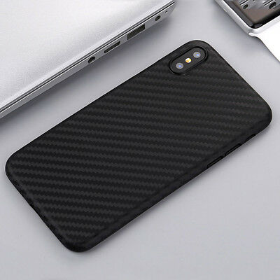 Ultra Thin Slim Carbon Fiber Matte Hard Protective Case Cover For iPhone XS Max