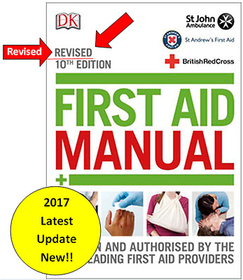 Revised First Aid Manual Book 10th Edition 2017 Red Cross St Johns, NEW Latest