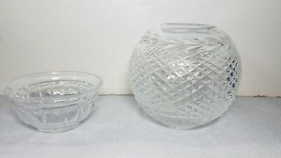 Lot of 2 Waterford Crystal  Vase And Bowl Mint Both Signed