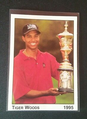 Tiger Woods RC Rookie Trading Card Golf 1995 Promo Amateur Champion