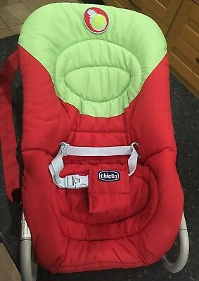 Chicco Baby Bouncer/Rocker Green and Red Multi Position Recline