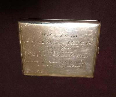 Royal Canadian Artillery STERLING Cigarette CASE Colonel SHARMAN Narcotic 1946