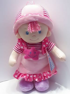 Weichpuppe Puppe Stoffpuppe rosa 32cm Nr.02