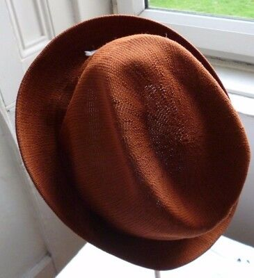 Brown Kangol Vintage 1940s 50s Styled Gents Hat Size XL