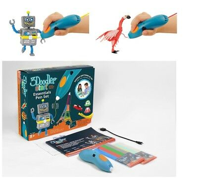 3D Art Printing Pen Set for Kids with 2 Mixed-Color, Micro-USB Charger and More