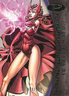 2012 Marvel Premier SCARLET WITCH No. 19 Base Card #004/199