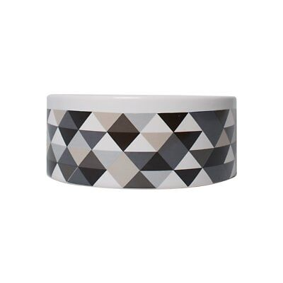 Mog & Bone Ceramic Bowl - Diamond Print - Mocca