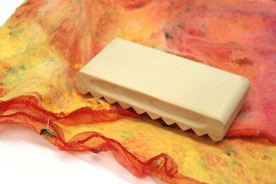 Wooden Felting Fulling Block Rectangular for wet felting finishing Wool