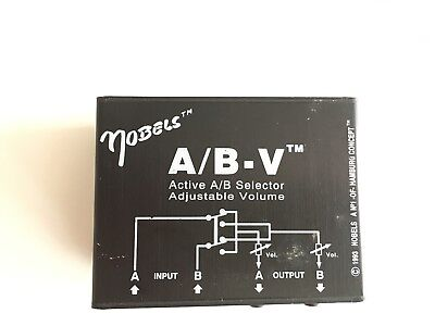 Active A/B selector Adjustable volume A/B-V