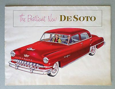1952 DESOTO LARGE SALES (FOLDING) CATALOG, plus a Magazine Clipping