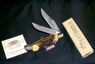 Camillus #26 Knife Sword Brand Handmade Indian Stag Handles W/Packaging,Papers