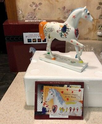 """Trail of Painted Ponies Childrens Prayers For The World Horse Figurine NEW 7"""""""