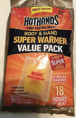 1 Value Packs Of HotHands Body & Hand Super Warmer Lasts Up To 18 Hours New