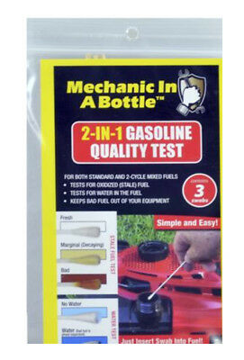 Mechanic in a Bottle Gasoline Quality Gas Test Kit Standard & 2 Cycle FREE SHIP!