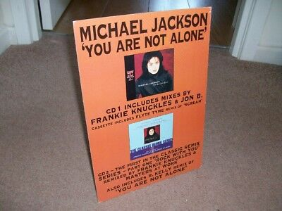 MICHAEL JACKSON- YOU ARE NOT ALONE counter stand from 1995