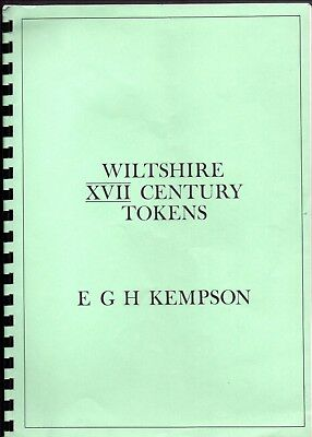 Publication - Wiltshire 17th Century Trade Tokens by E G H Kempson 1978 2nd Ed