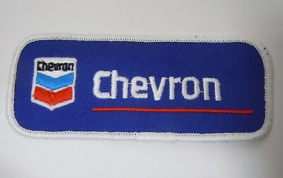 """CHEVRON OIL & GAS Embroidered Sew On Uniform-Jacket Patch 4.5"""""""