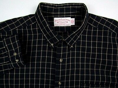 CC FILSON Men's Size 2XL Shirt 100% Wool Button Down Plaid Flannel EUC