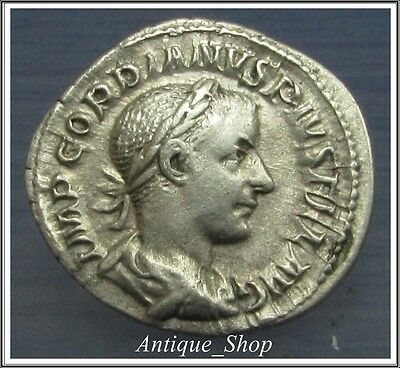 Gordian III Denarius **PERFECT DETAILS**VERY RARE** Ancient Roman Silver Coin