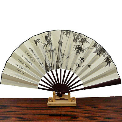 1x Chinese Japanese Silk Folding Hand Held Pocket Fan Party Dance New TH