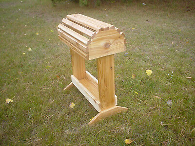 Handmade Pine Saddle Stand Rack W/Tray