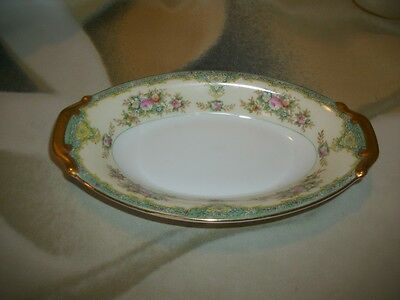 Meito China Cream & Floral Pattern Japan 8 1/2 by 5 Small Oval Serving Dish