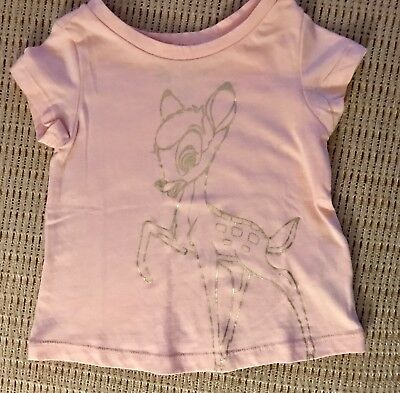 NWT~Baby Gap DISNEY~Bambi Pink Girls T-Shirt~18-24 Mos