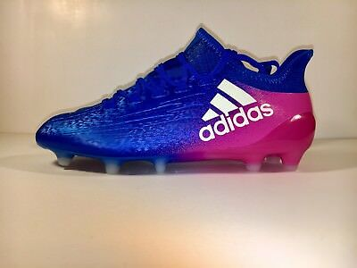 check out 98833 94be2 ADIDAS X16+ PURECHAOS FG Soccer Cleats Mens Blue Pink White Size 7 BB5613