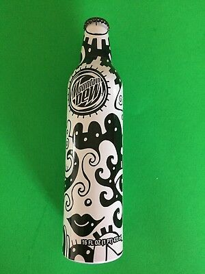 FULL Mountain Dew Soda Green Label Billy Art NYC Aluminum 16oz Bottle