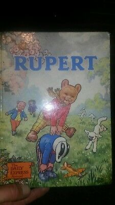 1958 Rupert The Bear Annual - Daily Express Book - Alfred Bestell Illustrated