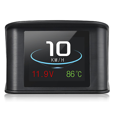 Autohil P10 Digital Speedometer HUD with OBD2 Interface with OverSpeed Warning,