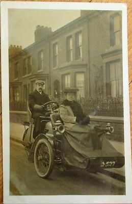 Advance Tricar/Three-Wheel Car/Motorcycle 1907 Realphoto Postcard - Automobile