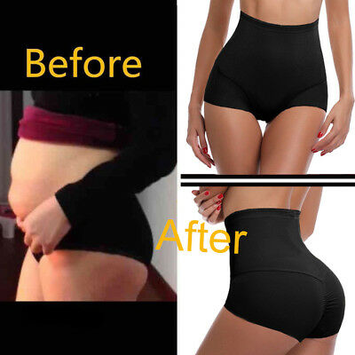 Women High Waist Briefs Shapewear Panty Body Shaper Control Slim Tummy Underwear