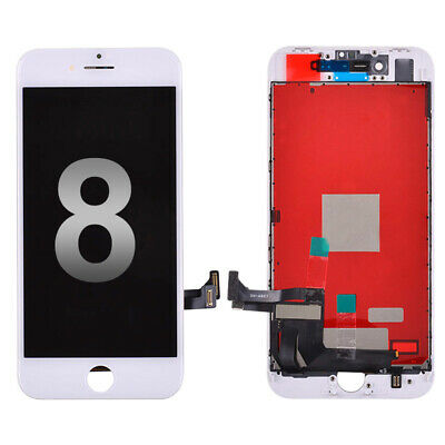"""USA White LCD Screen Touch Digitizer + Bezel Frame For Apple iPhone 8 4.7"""""""