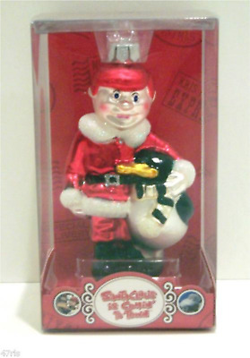 """* Kris Kringle  * Santa Claus Is Coming To Town  Blown Glass New Ornament 5"""""""
