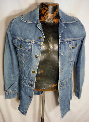 LEE USA Made Blue Snap Teen Girls Vintage Denim Jacket - 32 Inch chest