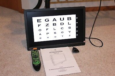 "Digital Visual Acuity 19"" LCD, Woodlyn Ultravision Visual Acuity Panel"