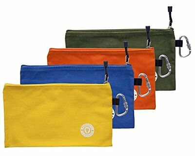 Pencetti 8-Pcs Small Tool Bag Value Set Includes 4 Heavy Duty Canvas Tool Bags