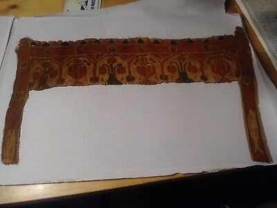 400-500ad Egyptian Textile.  Coptic Textile w/ Amphorae and fruit. HUGE. Collar