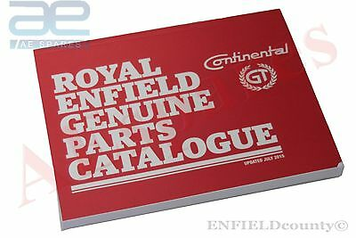 ROYAL ENFIELD GT CONTINENTAL GENUINE PARTS CATALOGUE PART MANUAL BOOK @AEs