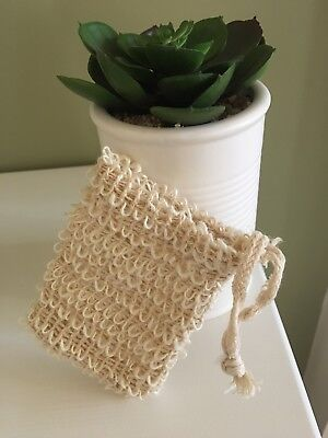 Natural Sisal Soap Holder Bags Qty of 2 - Exfoliates your Skin