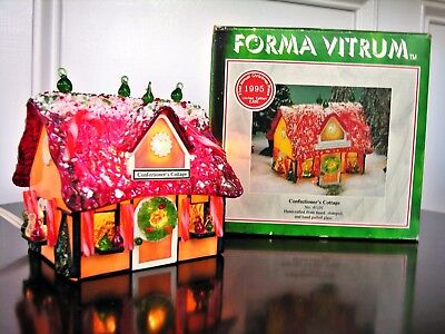 FORMA VITRUM 1ST ANNUAL 1995 Xmas CONFECTIONER'S COTTAGE Stained Glass 802 /2500