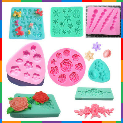 3D Silicone decorating cutters Insects child shoes flowers necklaces ocean molds