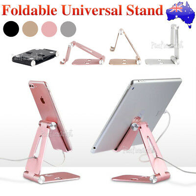 Universal Folding Aluminum Tablet Mount Holders Stand For iPad iPhone Samsung LG