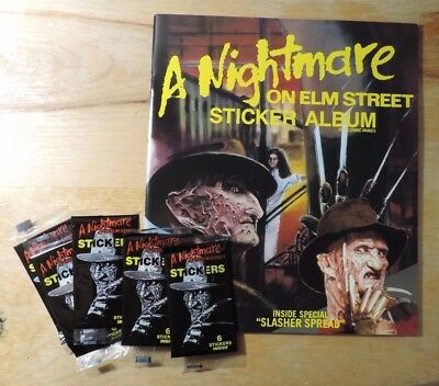 Comic Images A Nightmare on Elm Street Sticker Album c/w 5 Packs