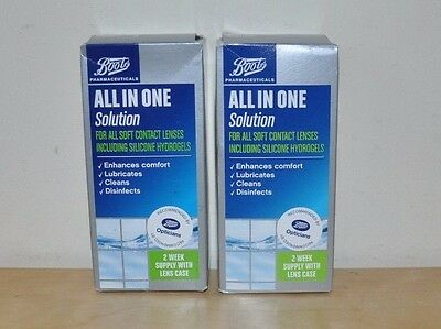 BNIB Boots All In One Solution 120ml x 2  (Contact Lenses)