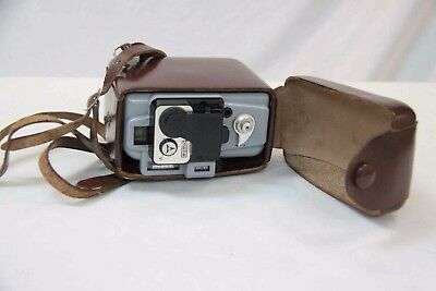 Vintage 1958 Eumig Servomatic Cine Camera with Leather Case #13593